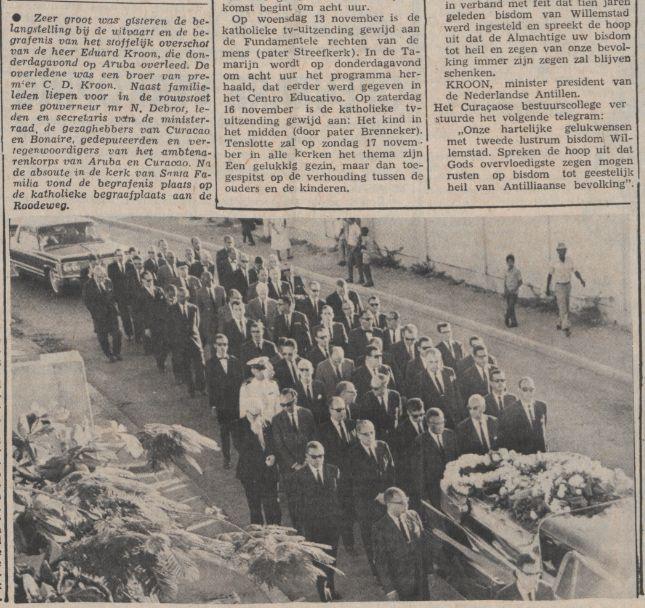 Amigoe 19-10-1968, rouwstoet E.C. Kroon