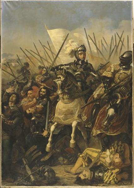 De slag bij Agnadello door Pierre-Jules Jollivet (1794-1871), Versailles