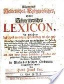 Lexicon H J Leu 1756