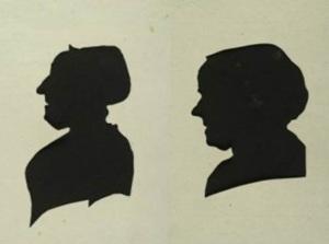 Silhouet portretten van Aafje Bodisco (1740 - 1812) en Helena Bodisco - Hoefnagel (-1795), 1796 (particuliere collectie)
