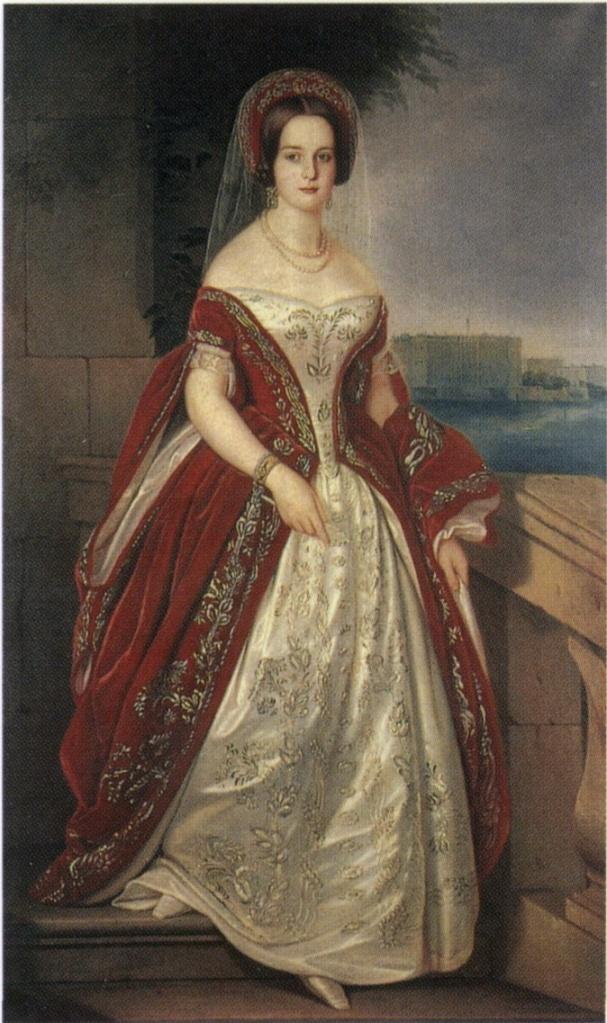Harriet barones de Bodisco - Williams (1836 - ?), door J.C. Dorner (Russisch Staatsmuseum)