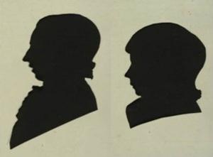 Silhouet portretten Pieter Bodisco (1778 - 1831) en Helena Bodisco (1788 - 1836), 1796 (particuliere collectie)