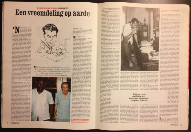Interview met Tip in Vrij Nederland (03-03-2001, nr. 9)