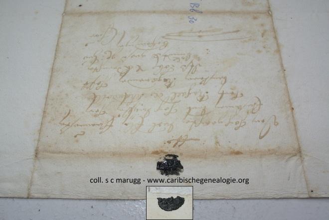 """Zegel Christian Marugg, """"Zum Abschied der letzten Bundesversammlung"""" (landsregering), 3 december 1690 (Staatsarchiv Graubünden)"""