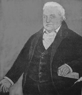 Portret van Dr. Frederick Henry Quitman, Luthers predikant te Curaçao en Rhinebeck, New York en .... anoniem, ca. 1820 (onbekende collectie, bron www.findagrave.com)