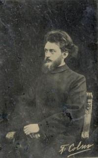 Portret van F.J.M. Colson (1878-1911), ca. 1905-1910, wonderdokter te Ulvenhout, Breda