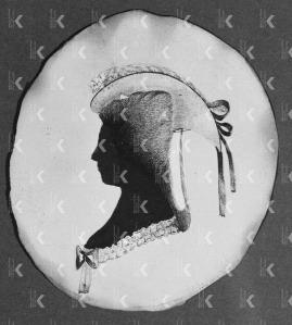Silhouet portret van A.C. de Milly - de Bruyn (1757-?), ca. 1775-1899, anoniem (particuliere collectie)