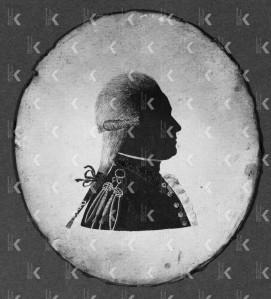 Silhouetportret van L.A. de Milly (1751-1817), ca. 1775-1899, anoniem (particuliere collectie)