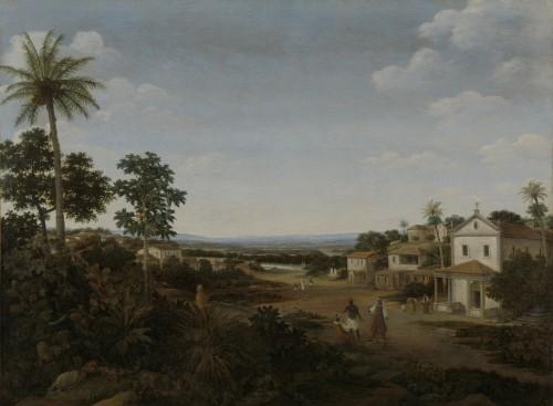 Landschap in Brazilië, Frans Jansz. Post, 1644 - 1680 (Rijksmuseum)