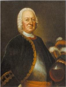 Portret van Otto Willem Berg (1688-1773), vader van M.S. de Bruyn - Berg