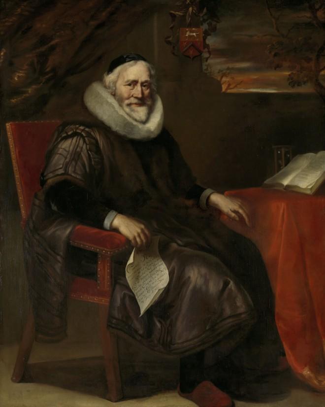 Cornelis Nuyts (1574-1661), koopman te Amsterdam en vader van David Nuyts, Jürgen Ovens, 1658 (Rijksmuseum)