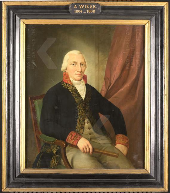 Portret van Albertus Henricus Wiese (1761-1810), gouverneur-generaal van Nederlands Oost-Indië (1805-1808), toegeschreven aan Adriaan de Lelie, 1805-1810 (Rijksmuseum)