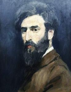 Emanuel Samson van Beever (1876-1912), zelfportret, 1910