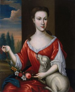 Maria Magtilda Winkler (ca. 1720-?), echtgenote van Nicolaas Gouverneur te New York en zuster van Hans Willem van Kinswilder Winkler, anoniem, ca. 1735 (Fine Arts Museums of San Francisco)