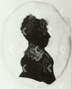 Henriette Maria Lix Raaven 1788 18 64 1800 1824 silhouetportret anoniem (particuliere collectie)